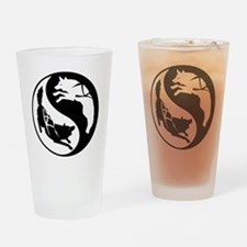 yin_yang_dogs Drinking Glass