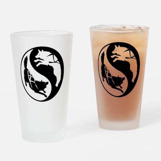 yin_yang_dogs Drinking Glass