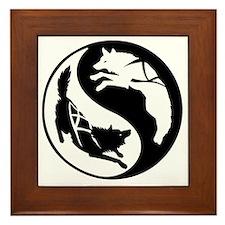 yin_yang_dogs Framed Tile