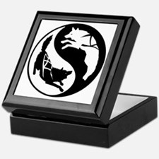 yin_yang_dogs Keepsake Box