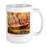 SS United States in New York  Large Mug