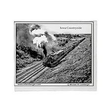 X-RR Steam Eng- Iowa Countryside mou Throw Blanket