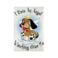 Angel-Watching-Over-Me-Dog Rectangle Magnet