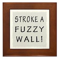 Fuzzy Wall WB Framed Tile