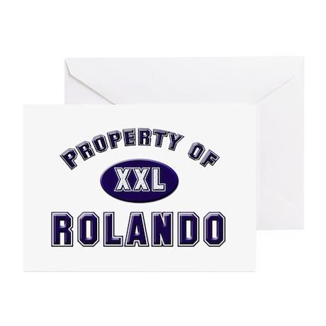 Property of rolando Greeting Cards (Pk of 10)