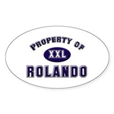 Property of rolando Oval Decal