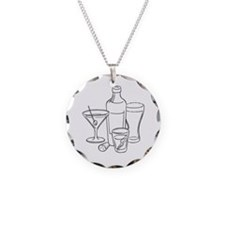 drinks-well2 Necklace Circle Charm