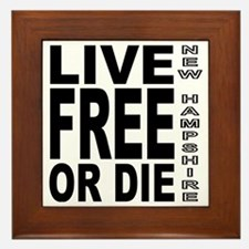 LiveFreeorDieBlack Framed Tile
