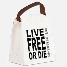 LiveFreeorDieBlack Canvas Lunch Bag