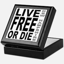 LiveFreeorDieBlack Keepsake Box