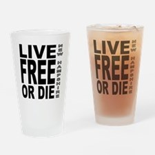 LiveFreeorDieBlack Drinking Glass