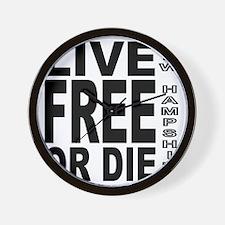 LiveFreeorDieBlack Wall Clock