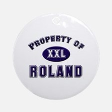 Property of roland Ornament (Round)