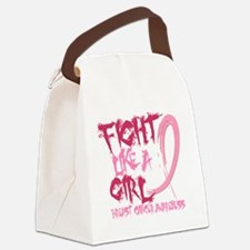 - Breast Cancer Fight Like a Girl Canvas Lunch Bag