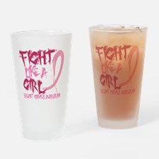 - Breast Cancer Fight Like a Girl Drinking Glass