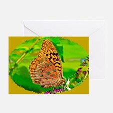 Great Spangled Fritillary Butterfly, Greeting Card
