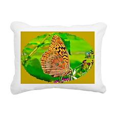 Great Spangled Fritillar Rectangular Canvas Pillow