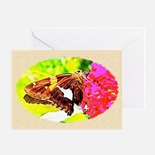 Silver-spotted Skipper Butterfly, Ca Greeting Card