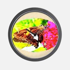 Silver-spotted Skipper Butterfly, Calen Wall Clock