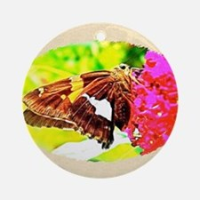 Silver-spotted Skipper Butterfly, C Round Ornament