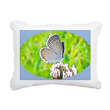 Eastern Tailed Blue Butt Rectangular Canvas Pillow