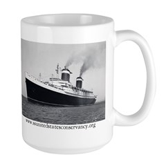 SS United States Sea Trials Large Mug
