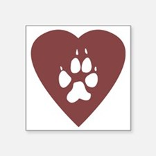 "heart_pawprint Square Sticker 3"" x 3"""