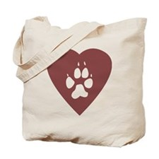 heart_pawprint Tote Bag