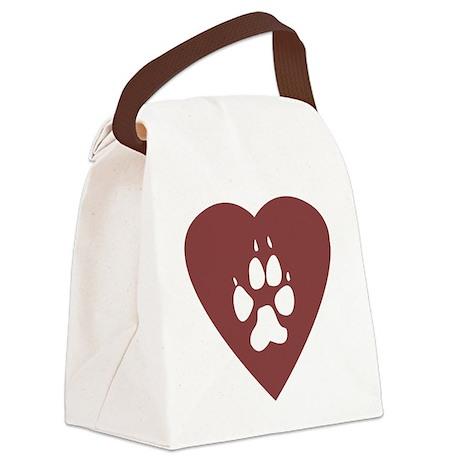 heart_pawprint Canvas Lunch Bag