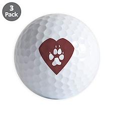 heart_pawprint Golf Ball