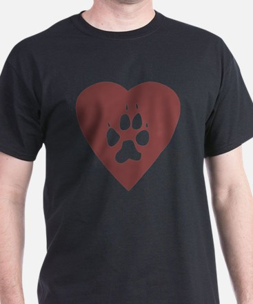 heart_pawprint T-Shirt