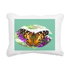 American Painted Lady Bu Rectangular Canvas Pillow
