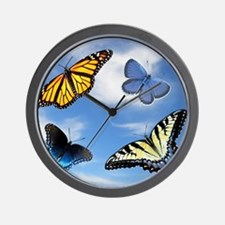 Assorted Butterflies Year At A Glance C Wall Clock