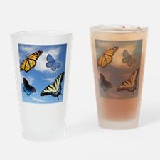 Assorted Butterflies Year At A Glan Drinking Glass