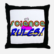 science rules Throw Pillow