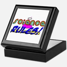science rules Keepsake Box