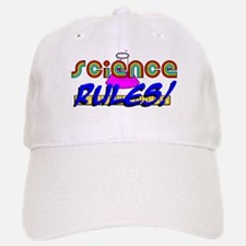 science rules Baseball Baseball Cap