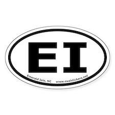 Emerald Isle, North Carolina Oval Car Decal