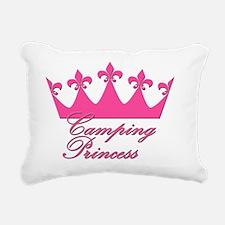 CampingPrincess-Pink Rectangular Canvas Pillow