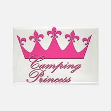 CampingPrincess-Pink Rectangle Magnet