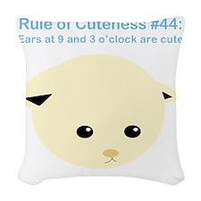 RuleOfCuteness44 Woven Throw Pillow
