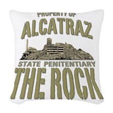 PROPERTY OF THE ROCK Woven Throw Pillow