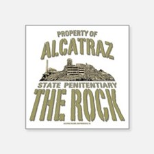 """PROPERTY OF THE ROCK Square Sticker 3"""" x 3"""""""