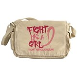 Fight like a girl Messenger Bag