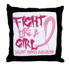 - Breast Cancer Fight Like a Girl Throw Pillow