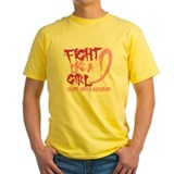Fight like a girl Mens Yellow T-shirts