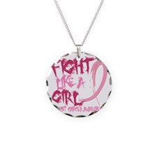 - Breast Cancer Fight Like a Necklace Circle Charm