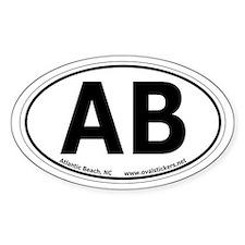 Atlantic Beach, North Carolina Oval Car Decal