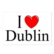"""""""I Love Dublin"""" Postcards (Package of 8)"""
