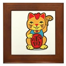 luckycat2 Framed Tile